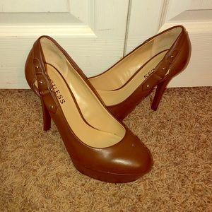 Guess Brown stiletto platform heels lightly worn